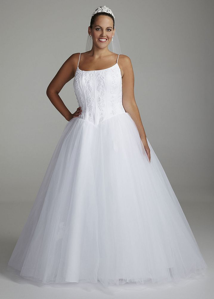 david 39 s bridal sample spaghetti strap tulle ball gown