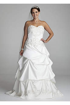 Strapless Sweetheart Pick-Up Ball Gown