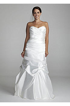 Sweetheart Charmeuse Gown with Pick-Up Skirt AI13012293