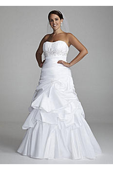 Strapless Taffeta Gown with Pick Up Swirl Skirt AI13012394