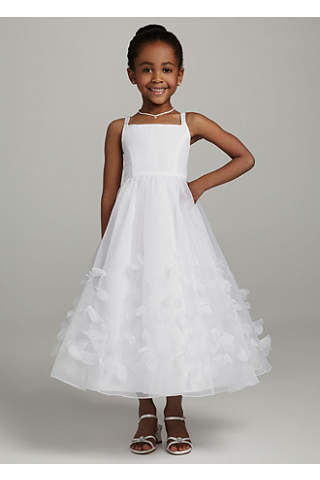 Pale Pink Tea Length Dress