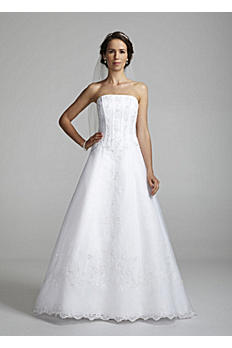 Organza Corset Wedding Dress with Beaded Lace OP8822