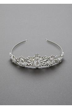 Heavily Beaded Crystal Tiara T8136