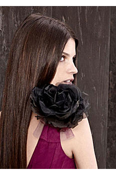Organza and Velvet Rose Clip VW370110