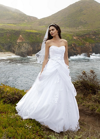 Tulle Ball Gown with Lace-Up Back and Side Swags AI10012163