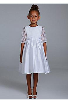 Tank Taffeta Tea Length Ball Gown with 3/4 Sleeve 43435805