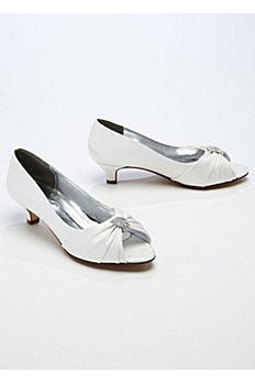 Satin Peep Toe Sandal with Crystal Ornament ADELE