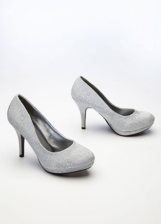 david s bridal wedding bridesmaid shoes glitter mesh