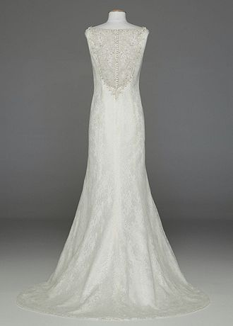 David S Bridal All Over Lace Tank Wedding Dress With