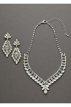 Oleg Cassini Crystal Necklace and Earring Set NCKP588