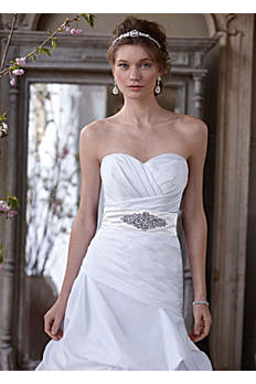 Dropped Waist Strapless Sweetheart Wedding Gown AI10012218