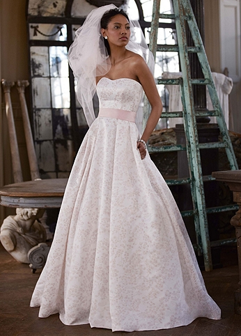 Blossom Print Satin Ball Gown WG3578