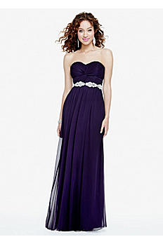 Strapless Prom Dress with Ruched Bust and Beading 8420DW3B