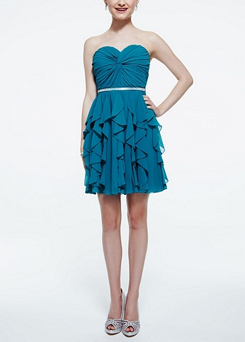 Strapless Twisted Front Chiffon Dress 9560KG1C