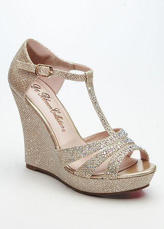 david s bridal wedding bridesmaid shoes glitter t