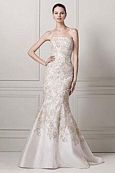 As-Is Mikado Wedding Dress with Lace Applique AI14030065