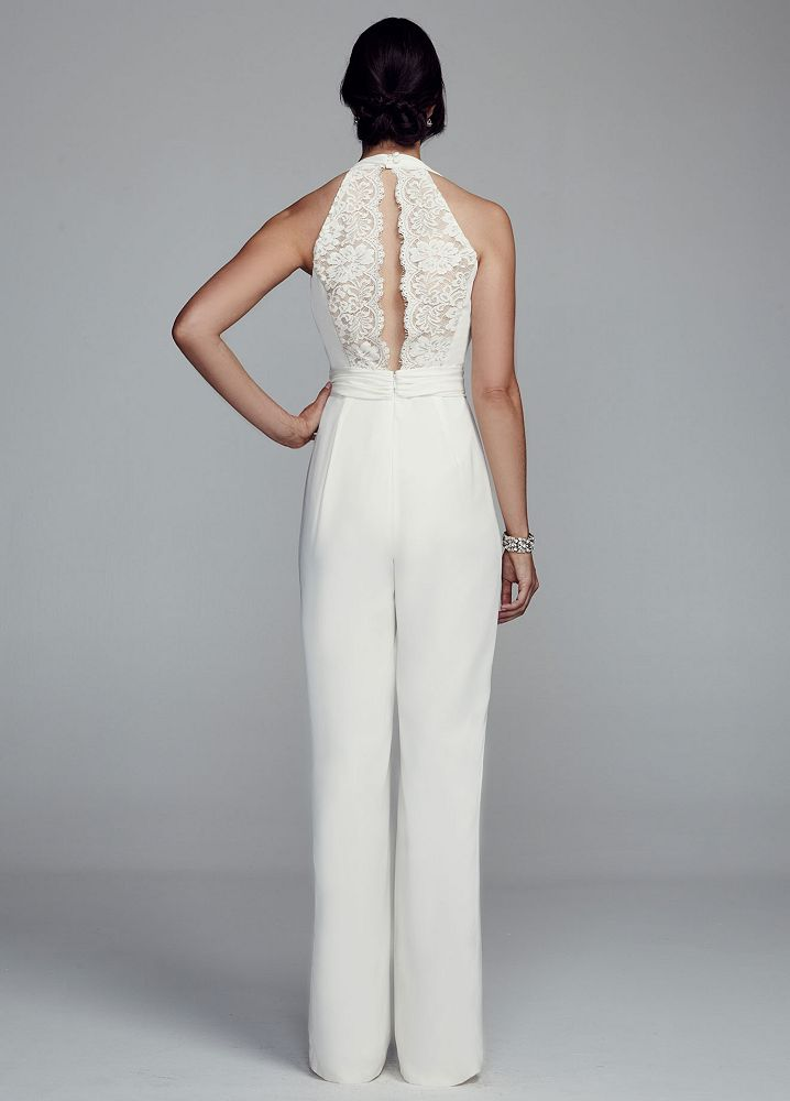 Wedding Jumpsuit On Pinterest Lace Jumpsuit Strapless