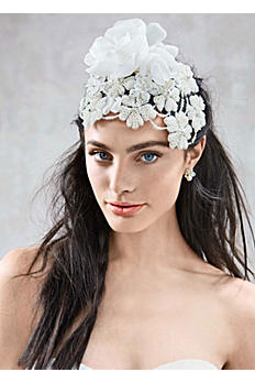Large Pearl 3D Floral Headpiece F632