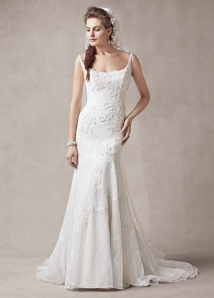 Melissa Sweet Trumpet Wedding Dress With Venise Lace