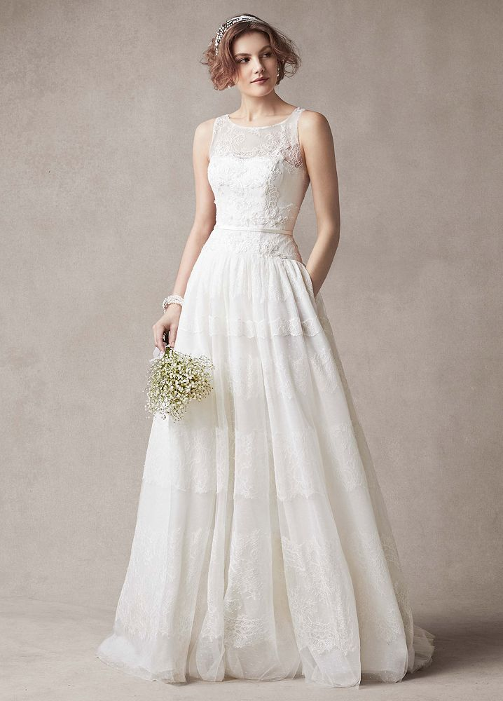 melissa sweet sleeveless ball gown wedding dress with