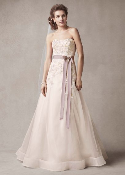 Melissa Sweet Wedding Dress with Two Toned Skirt | David's Bridal