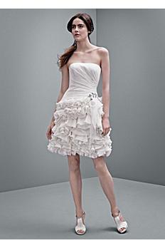 White by Vera Wang Short Chiffon Wedding Dress VW351216