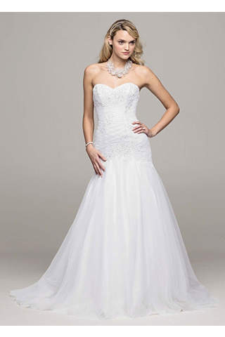 Trumpet Beaded Applique Gown