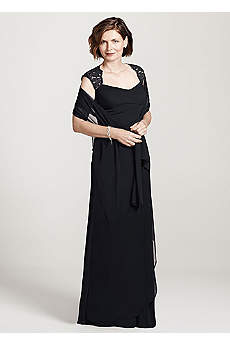 Long Sheath Cap Sleeves Mother and Special Guest Dress - Xscape