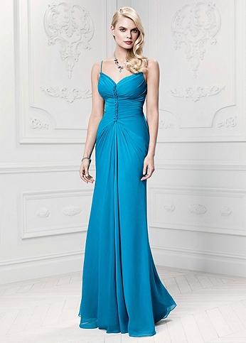 Long Soft Crinkle Chiffon Gown ZP281446