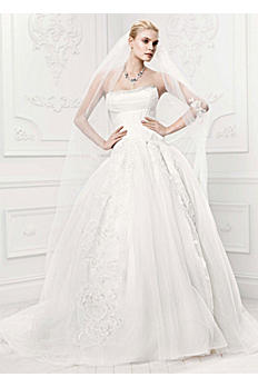 Truly Zac Posen Tulle Wedding Dress with Draping ZP341400