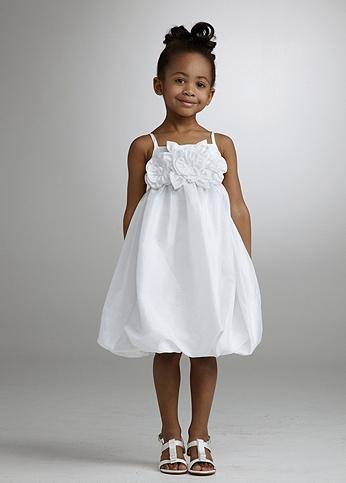 Taffeta Empire Bubble Dress with Floral Detail 511581