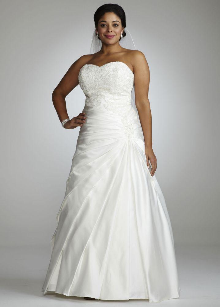 Alita Graham Strapless A Line Wedding Dress With Dropped - A Line ...
