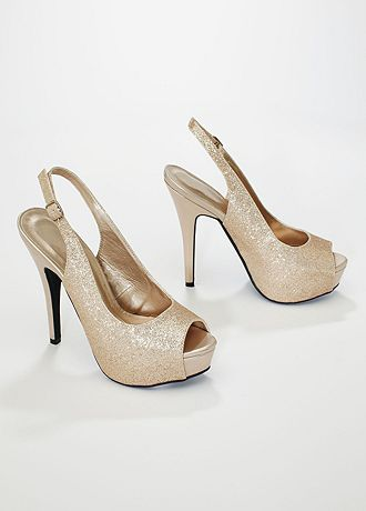 david s bridal wedding bridesmaid shoes glitter peep toe