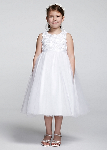 Tank Tulle Ball Gown With Floral Detail 42413705