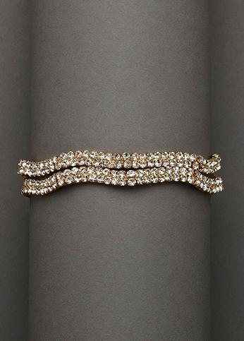 Double Row Rhinestone Bracelet ACB26922