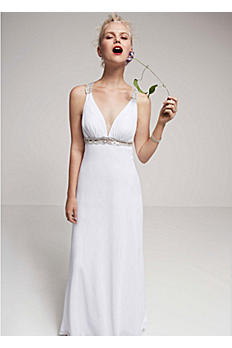 Beaded Tank Gown with Back Detailing D0216
