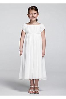 Short sleeve crinkle chiffon dress NM1211