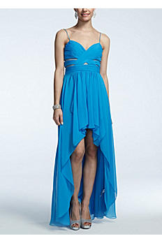 Spaghetti Strap High Low Prom Dress 211S32370