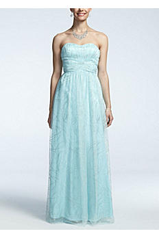 Strapless Glitter Mesh Ball Gown 211S47740