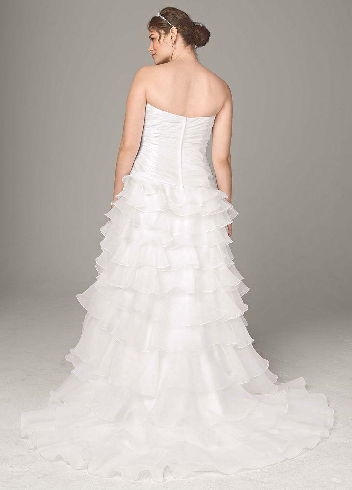 David 39 s bridal strapless taffeta high low ruffle skirt for I need to sell my wedding dress