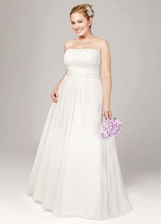 Chiffon A-line with Beaded Lace on Empire AI13011249