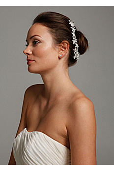 Flower Bun Wrap with Crystals C9046