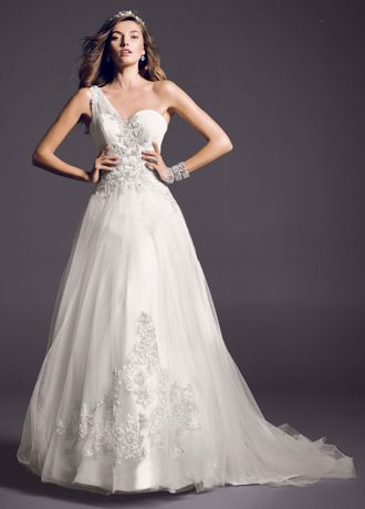 One Shoulder Wedding Dresses &amp- Gowns - David&-39-s Bridal
