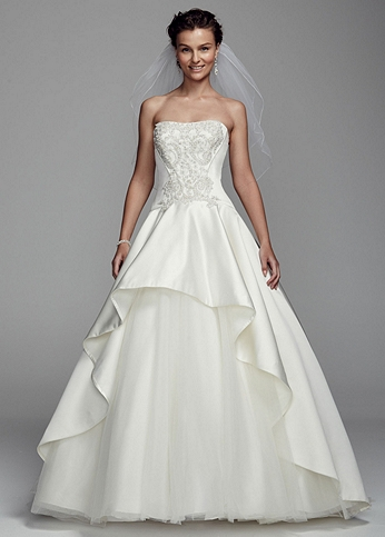 Affordable wedding dresses on sale now shop at davids for David s bridal clearance wedding dresses