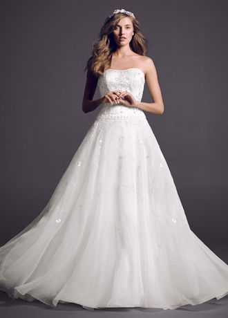 Satin Bodice with Organza Skirt and Beading AI14010165