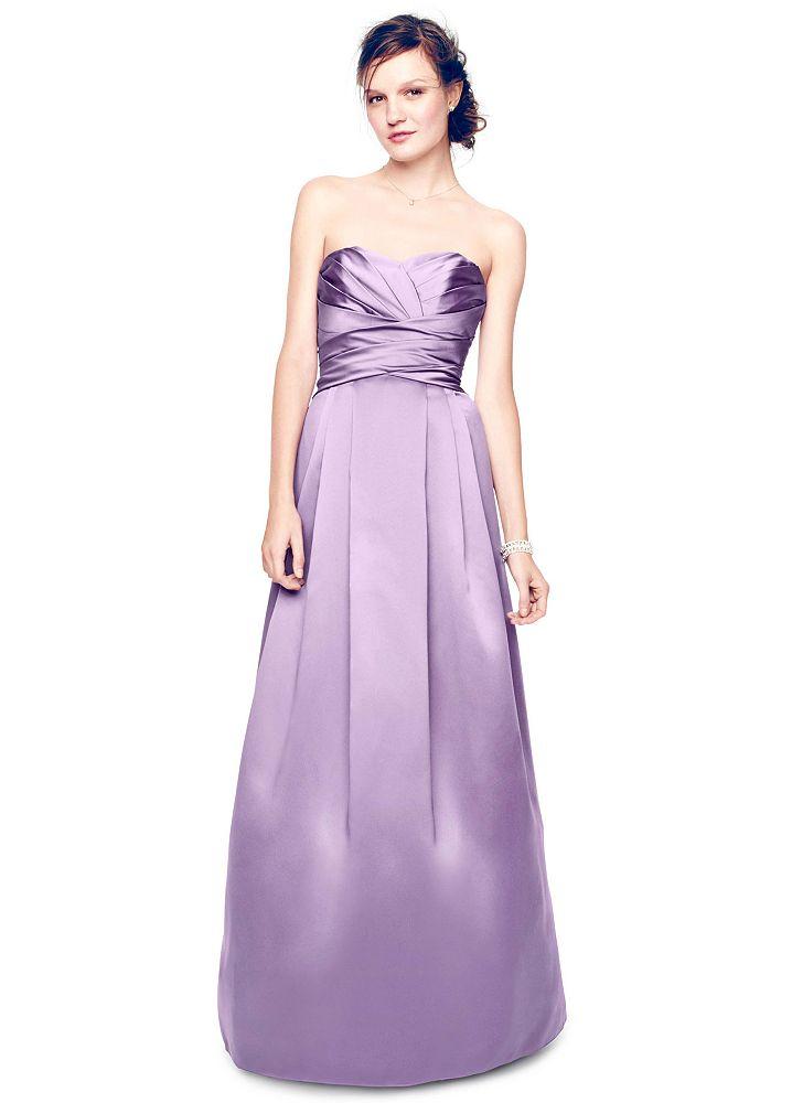David 39 s bridal strapless satin pleated bodice ball gown ebay David s bridal strapless wedding dress