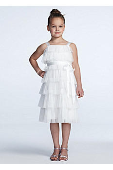 Tiered Mesh A Line Dress with Ribbon OP211