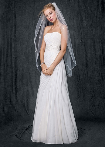 Crinkle Chiffon Gown with Asymmetrical Draping AI10020532