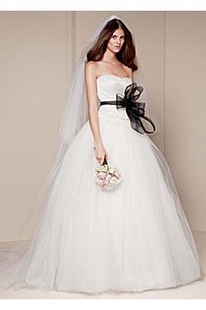 White by Vera Wang Draped Wedding Dress VW351007