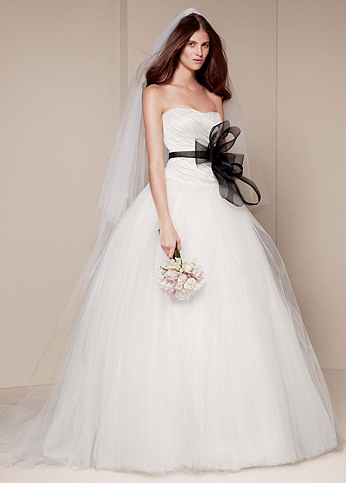 Ball Gown with Asymmetrically Draped Bodice VW351007